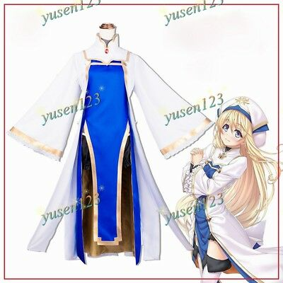 Goblin Slayer Onna Shinkan Priestess Cosplay Costume Suit Hat Women Dress Lot