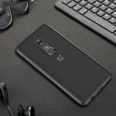 Carbon Fiber Hybrid TPU Rubber + PC Back Case Cover For OnePlus 6T / OnePlus 6