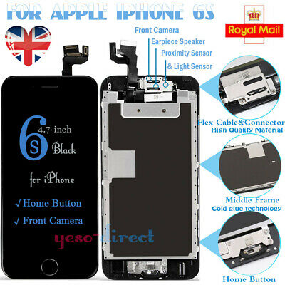 For iPhone 6S Screen LCD Touch Display Replacement with Camera Home Button Black
