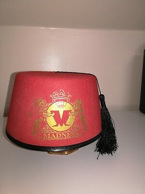 Madness - Official Fez Hat - 2013 Coat Of Arms Design - Suggs Ska Two Tone Stiff