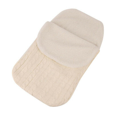 Thick Baby Swaddle Wrap Knit Envelope Newborn Sleeping Bag Warm Winter Blanket