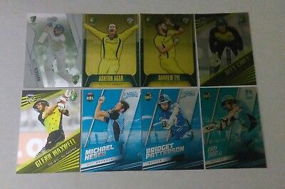 2018/19 TAP'N'PLAY -  CRICKET PARALLEL SINGLE CARDS $2.50 each