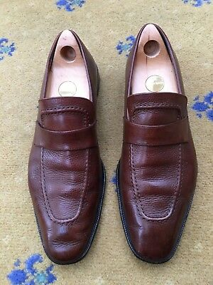 c0a838533933 Gucci Mens Shoes Brown Leather Loafers UK 10 US 11 EU 44 Made in Italy