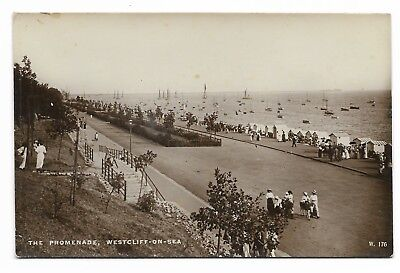 Promenade, Westcliff-on-Sea Early 20th Century Real Photo Postcard 864J