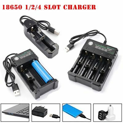 1/2/4 USB 18650 Battery Charger Rechargeable Battery NEW Design Compact Small