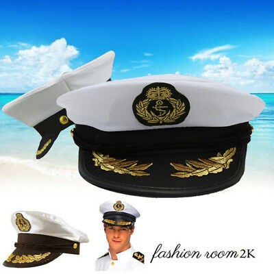 Super Sea Sailor Captain Cap Hat Navy Skipper Fancy Dress Accessories Costume N2