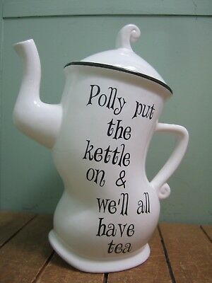 Polly Put the Kettle On Wonky Teapot wonderland mad hatter afternoon tea party