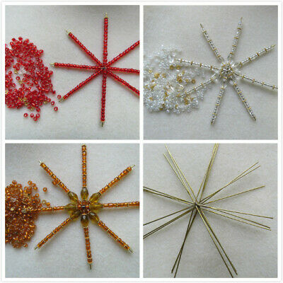 1-10 Big Wire Star / Snowflakes Beading / Bead Work For CHRISTMAS DECORATION