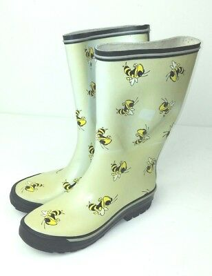 Georgia Tech Yellow Jackets Women s SIze 7 Rain Boots Vinyl Bees Cambou  Football 12d50555f