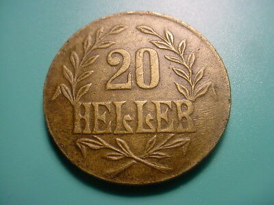 German East Africa - Brass - 1916-T 20-Heller In Very Nice Condition
