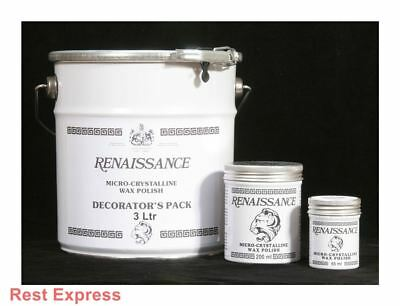 Renaissance Microcrystalline Wax Polish for Wood & Metal, 65ml, 200ml or 3 Litre