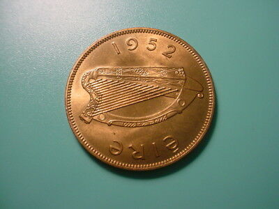 Ireland 1952 Penny In Very Nice Uncirculated Condition
