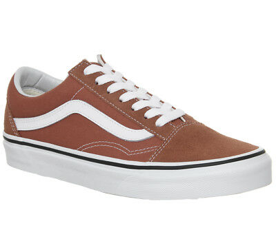 Mens Vans Old Skool Trainers Hot Sauce True White Trainers Shoes