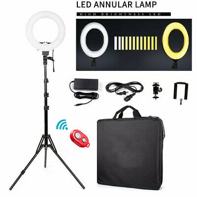 """12"""" LED Ring Light Dimmable 6200K Lighting Video Continuous Light Stand Kit USA"""