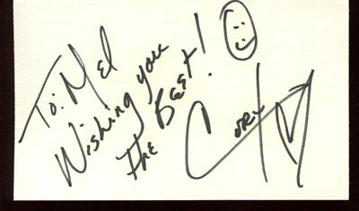 unidentified CORY autograph HAND SIGNED 8885