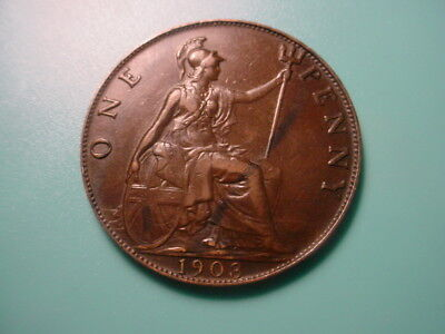 British 1903 Penny In Excellent Condition