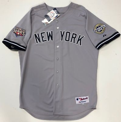 sports shoes 7cfa0 cbc9a DEREK JETER 2009 World Series New York Yankees Majestic Authentic Road  Jersey 48