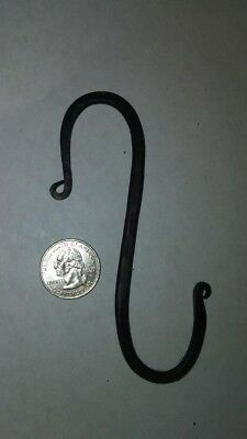 Hand Forged Wrought Iron S Hook USA Made Great for Pots, Plants, or Camping