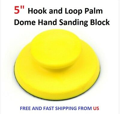 """5"""" Hook and Loop Palm Dome Hand Sanding Block"""