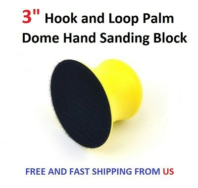 """3"""" Hook and Loop Palm Dome Hand Sanding Block"""