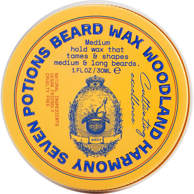 Seven Potions Beard Wax 30ml All Natural, Cruelty Free - 2 Different Scents