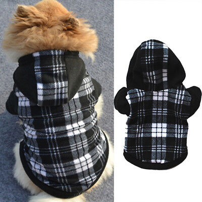 Pet Dog Hoodie Coat Jacket Puppy Cat Winter Warm Hooded Costume Apparel New CHG