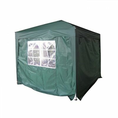 Wild Garden Green Side Walls FOR 2.5m Easy Up / Pop Up Square Gazebo - 2 Pack