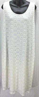 Isabel Materity by Ingrid & Isabel Dress Large 12 14 White Lace Shift  New 5170