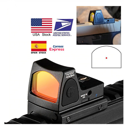 Tactical Mini RMR Red Dot Sight Collimator For Glock Reflex Scope Rifle Fit 20mm