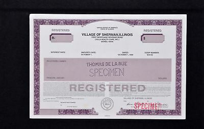 Village of Sherman, Illinois; First Mortgage Revenue Bond.