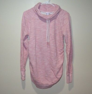 Isabel Maternity - Pink Women's Sweater - Size Small - Drawstring Neck
