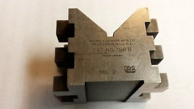 "Brown & Sharpe No.750B Machinist / Toolmaker V Block, 2-3/4x2-1/2x1-29/32"" USA"