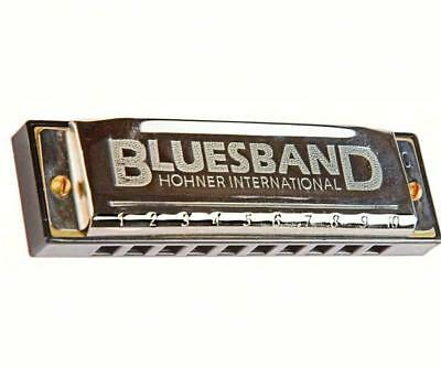 Hohner Classic BLUES BAND HARMONICA, Key of C, Song sheet included.          #dm