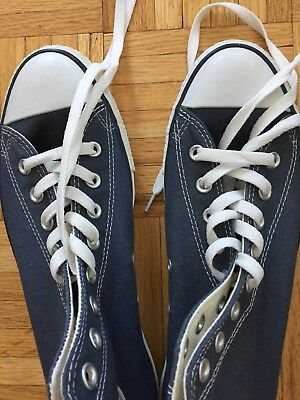CONVERSE Chuck Taylor All Star High Top Canvas Shoes BLUE size 9.5 men's