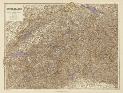 Switzerland & the Alps. Haute Savoie. Italian Lakes. Glaciers. STANFORD 1904 map