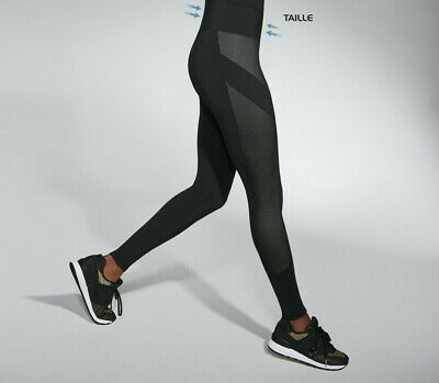 Leggings de sport femme fitness footing taille affinée BAS BLACK MISTY S M  L XL 8b8cec6a939