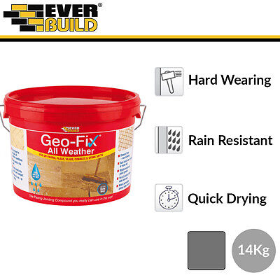 Everbuild Geo-Fix All Weather Jointing Compound   Slate Grey   14kg