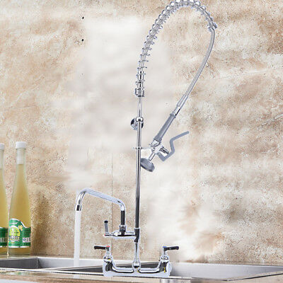 Upgraded Copper Commercial Pre-Rinse Faucet Swivel with Add-On Faucet CUPC Tap