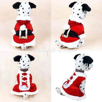 pet chat chien manteau Noël vêtements Santa Claus Christmas Déguisements costume