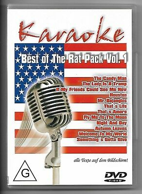 KARAOKE + DVD + Best of the Rat Pack Vol.1 & Texte auf Bildschirm + Party Spaß