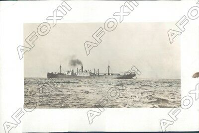 1921 United States First Electric Cargo Ship The SS Eclipse Press Photo