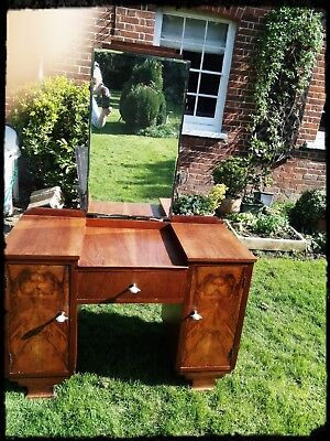 Vintage dressing table with three mirrors,.....Lovely mapleArt Deco