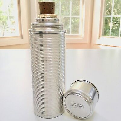 """4-Pc. LG 10"""" Pristine Vintage THERMOS #2280 Hot/Cold Insulator+Canister+Cup+Cork"""
