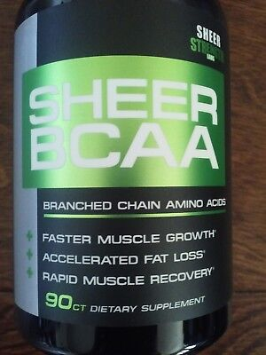 Sheer Strength BCAA Capsules - Extra Strength 1,950mg BOTTLE SEALED
