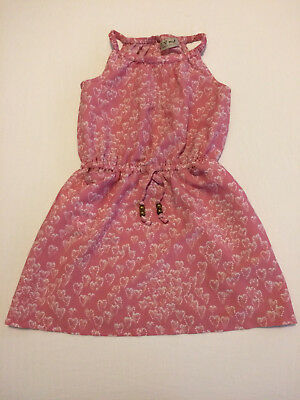 Next - Dress - Girl - Age 4 Years - Pale Pink & White Hearts