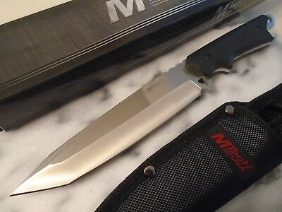 Mtech Silver Tanto Dagger Hunter Combat Knife 4mm Full Tang Cap Lifter 20-85TS