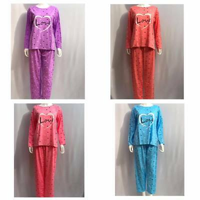 Nightwear Pyjama Set Pyjamas PJs Winter Size 10-22 Women Ladies Lounge wear