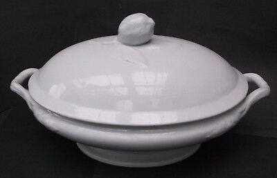 Vintage Large  Antique White Ironstone China J.F. Covered Tureen - ESTATE FIND