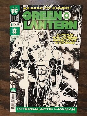 Green Lantern #1 Liam Sharp Midnight Release B & W Sketch Variant Cover - 2018