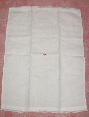 Vintage Antique White With RED CROSS Early 1900s Cotton Fingertip Hand Towel